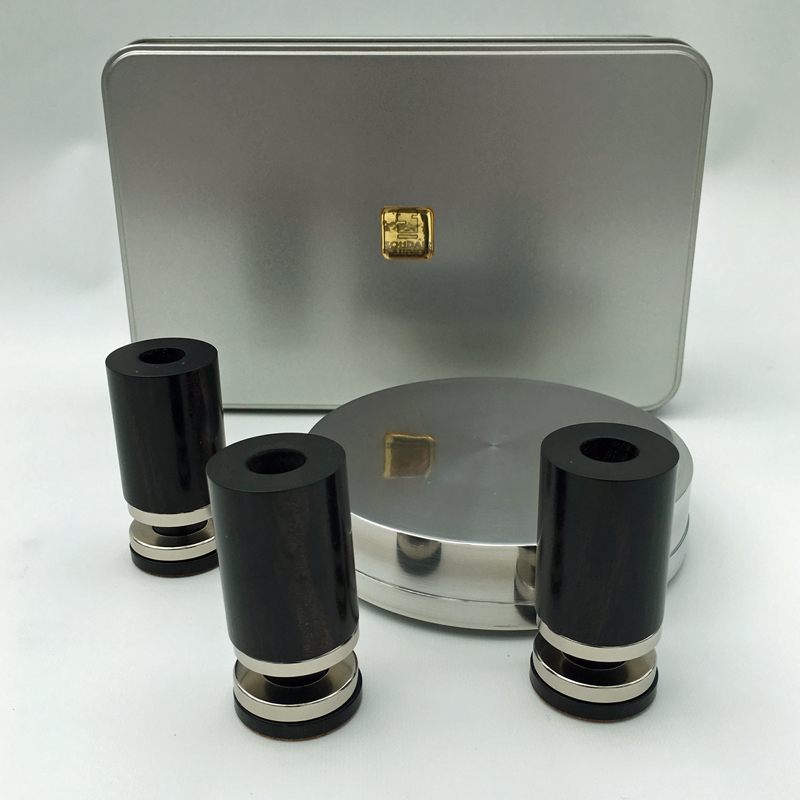 Solidair Audio Ebony performance pack for Michell turntables. Isolation improvement for Gyrodec and Orbe turntables